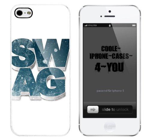 Iphone 5 / 5S Schutzhülle SWAG 3D - weisser Rahmen