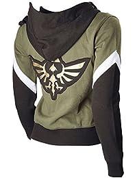 The Legend Of Zelda Link Hooded Hyrule Warriors Zipper Coat Jacket Green