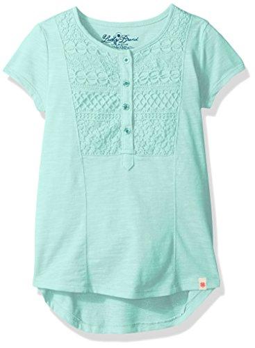 Lucky Brand Little Girls' Split Back T-Shirt, Blue Tint, - Brand Clothing Tint