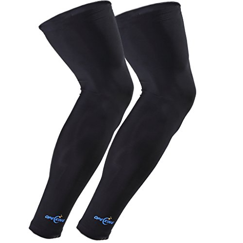 OpeCking Compression Leg Sleeves Knee Brace for Sports, Running, Basketball, Calf Knee Pain Relief, Improve Blood Circulation and Injury Recovery Best Leg Support for Men & Women - 1 Pair Blood Circulation Legs