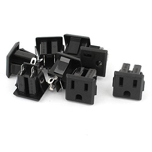 15a 125v Plug Type (8Pcs 3pin US Plug AC 125V 15A Socket Soldering Power Adapter)