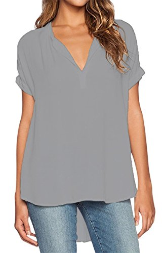 Lueyifs - Camisas - Una manga - Básico - para mujer gris