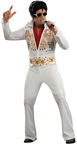 Adult China Man Costumes (Aloha Elvis Adult Costume,White,Large)