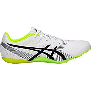 asics Men's Hypersprint 6 Track Shoes, White/Black/Safety Yellow, Size 9
