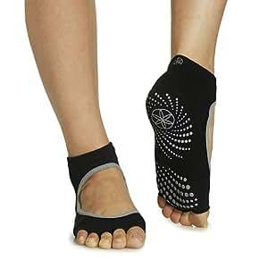 Amazon.com : Gaiam Grippy Toeless Yoga Socks (Mary Jane