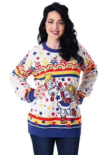 Classic Rainbow Brite Adult Ugly Christmas Sweater Large ()