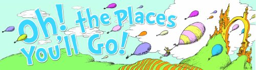 Eureka Dr. Seuss 'Oh The Places You'll Go' Back to School Poster Classroom Supplies - Horizontal Banner 45'' x 12'' -