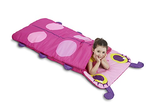 Ladybug Sleeping Bag make fun camping activities kids love and adults will too to keep from being bored and fun campfire games are just the start of tons of fun camping ideas for kids!