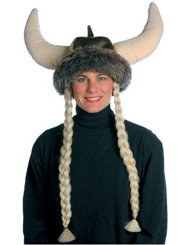 Rasta Imposta Space Viking Hat With Braids, Brown, One Size