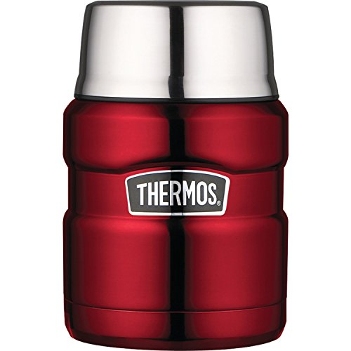 Thermos Stainless King 16 Ounce Food Jar with Folding Spoon, Cranberry by Thermos