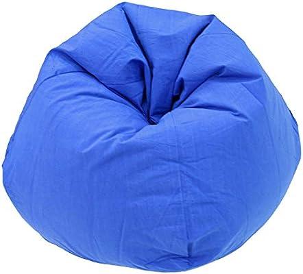 Magnificent Kas Australia Cotton Beanbag Cover Sapphire Blue Amazon Frankydiablos Diy Chair Ideas Frankydiabloscom