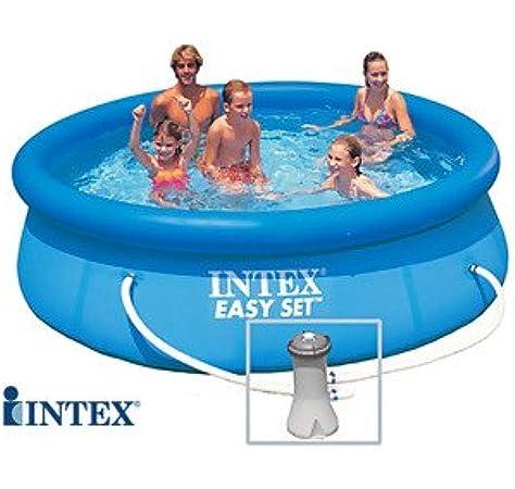 INTEX Easy Set - Piscina Autoestable 3, 05 cm x 0, 76 m Con depuradora: Amazon.es: Jardín
