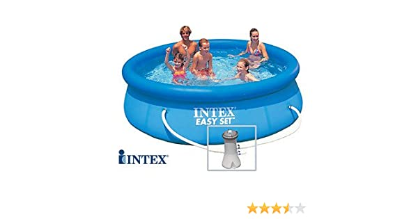 INTEX Easy Set - Piscina Autoestable 3, 05 cm x 0, 76 m Con depuradora: Amazon.es: Jardín