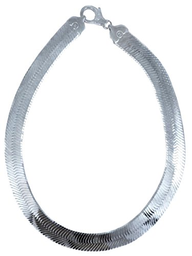 JOSCO Herringbone Necklace. 16.5mm Sterling Silver Italian .925 Solid Chain. 20,22,24,30 inches (20 Inches)