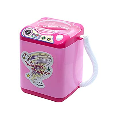 LARRY-X Children Electric Washing Machine Toy Pink Makeup Brush Cleaner Spinner Machine Kids Toy: Garden & Outdoor