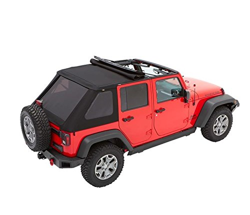 Bestop 56853-35 Black Diamond Trektop for 2007-2018 Jeep Wrangler JK Unlimited 4-Door (Best Jk Soft Top)