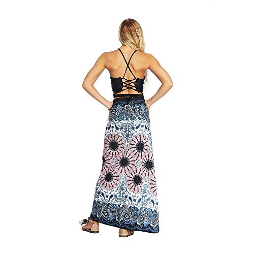 Qiusa Floreale Con Bianca Unica Per Stampati Fessura Yoga Larghi Donna Rosa Stampa A Allentata Mano Da colore Taglia Dimensione Pantaloni OCwOKSqr