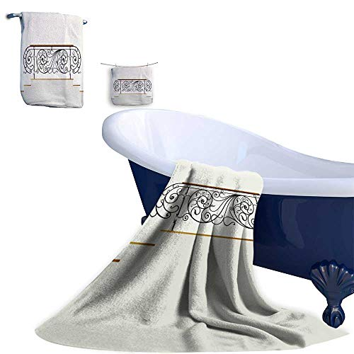 (Leigh home Towel Set 3-Piece,Wrought Rail Iron Quality Super Soft Highly Absorbent Machine Washable)