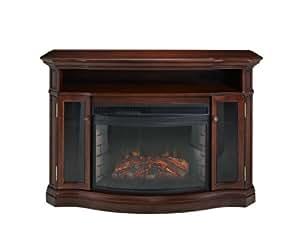 muskoka elliot electric fireplace media console home kitchen. Black Bedroom Furniture Sets. Home Design Ideas