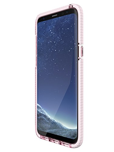 tech21 - Phone Case Compatible with Samsung Galaxy S8+ - Evo Check - Rose Tint/White