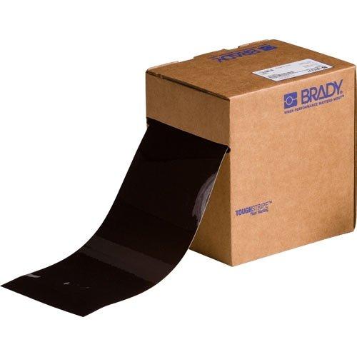 Brady 134091, 4'' x 100' Polyester ToughStripe Floor Marking Tape, Brown, 2 Rolls