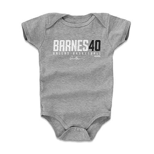 (500 LEVEL Harrison Barnes Baby Clothes, Onesie, Creeper, Bodysuit 6-12 Months Heather Gray - Dallas Basketball Baby Clothes - Harrison Barnes Barnes40 W WHT)