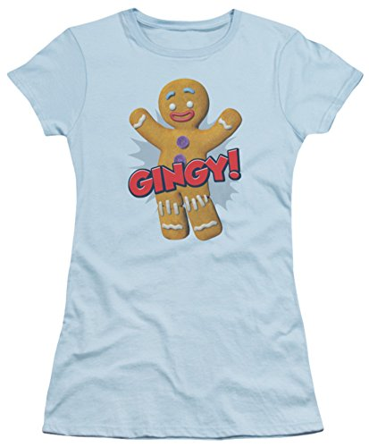 Juniors: Shrek - Gingy Juniors (Slim) T-Shirt Size S