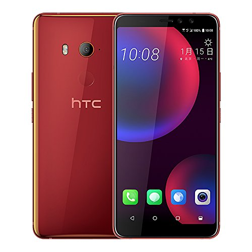 HTC U11 EYEs (2Q4R100) 4GB / 64GB 6.0-inches LTE Dual SIM Factory Unlocked - International Stock No Warranty (Solar Red)