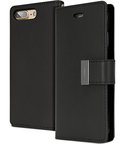 iPhone 7 PLUS Wallet Case, [Maximized Storages for Credit & ID Cards] MERCURY Rich Diary [Drop Protection] Premium PU Luxury Leather Case w/ TPU Casing Cover for Apple iPhone 7 PLUS (5.5