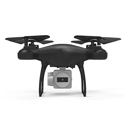 Dirance 4CH 6-Axis RC Quadcopter Drone, 1800mAh High Capacity Battery 0.3MP WIFI HD Camera Helicopter, Headless Mode & Altitude Hold & One Key Return (Black) by Dirance