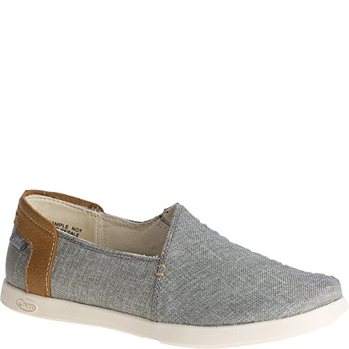 Chaco Women's Ionia Loafer Flat, Gray, 10 Medium US
