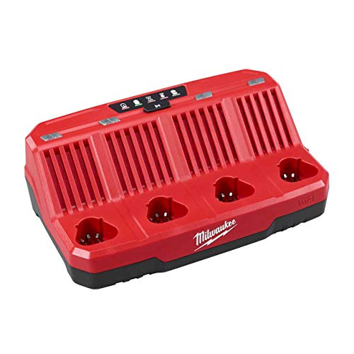 Milwaukee 48-59-1204 M12 Four Bay Sequential Charger - Simultaneous Battery Charger