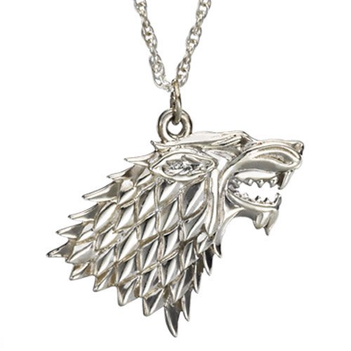 Game of Thrones Sterling Silver Stark Pendant Necklace