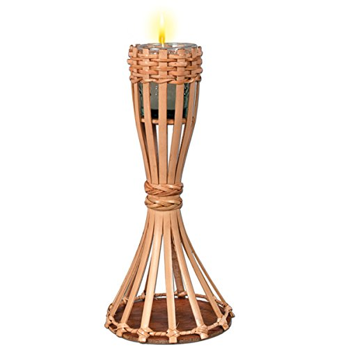 Pack of 6 Tabletop Bamboo Torch Candle Luau Party Decorations 11.5''