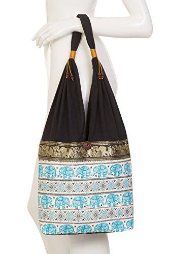 2 Blue Thai Light Design Hippie Elephant Bag Terrace Thai Hippie Tvq6ZwFB