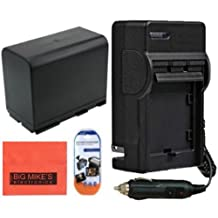 BP-970 Battery And Charger Kit For Canon XF100 XF105 XF300 XF305 GL1 GL2 XH-A1 XH-A1S XH-G1 XH-G1S XL-H1 XL H1A XL-H1S XL1 XL1S XL2 Camcorder + LCD Screen Protectors + Micro Fiber Cleaning Cloth