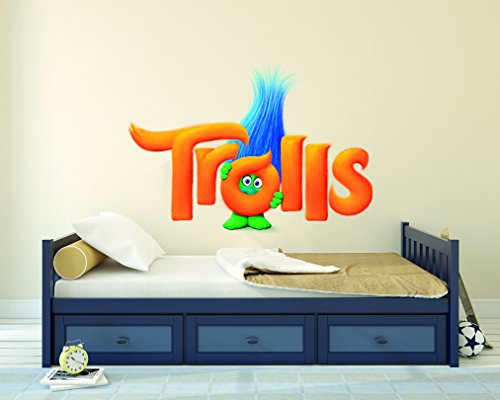 Dreamworks Trolls Movie Name Kids Wall Decal