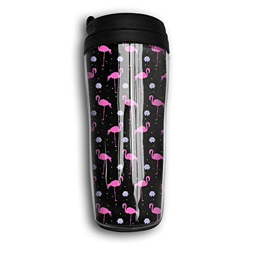Taiji Coffee Mug (Exotic Bird Pink Flamingos Water Lilies Lotus Fashion Insulated Traveler Coffee Mug Tumbler Stainless Steel Coffee Cup 12 Oz)