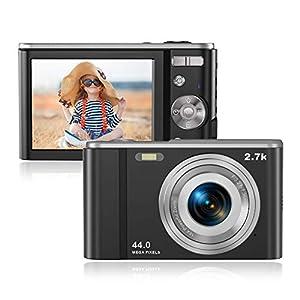 Appareil Photo Numérique, Compact Camera 2.88 Pouces 44MP HD LCD Rechargeables Vlogging Appareils Photo Compact avec 16X…