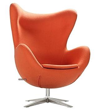 Sillón EG-66, tapizado cachemir naranja: Amazon.es: Hogar