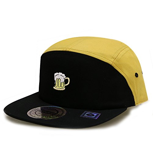 City Hunter Cn145 Beer Two Tone 5 Panel Biker Hat 13 Colors (Two Tone 5 Panel)