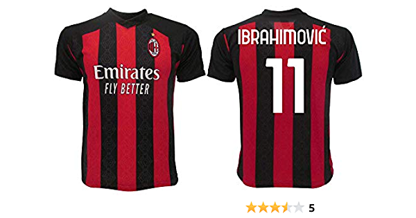 Camiseta oficial Ibrahimovic Milan 2021 para adulto niño Ibra Zlatan 11 UNDICI: Amazon.es: Ropa y accesorios