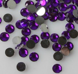 Beading Station 1440-Piece Flat Back Brilliant 14-Cut Round Rhinestones, 3mm-10ss, Lavender (3mm Ss Bead)