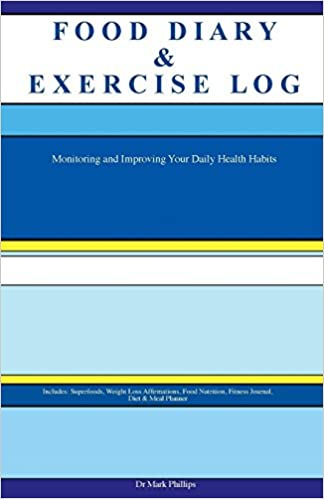 food diary exercise log monitoring and improving your daily