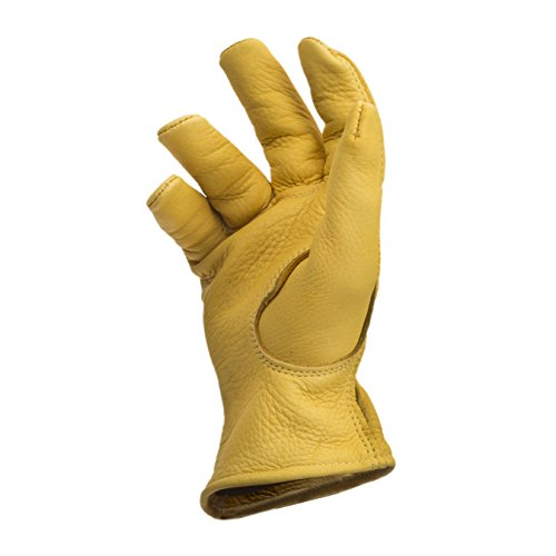 American Made Genuine Deerskin Buckskin Leather Work Gloves , 850, Size: Large by Midwest Gloves & Gear (Image #8)