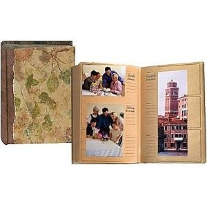 ECO-Paper AUTUMN LEAVES album holds 300 4x6-4x12 photos with memo area - 4x6