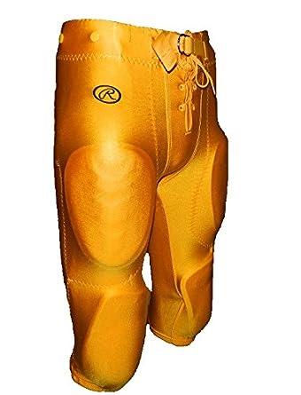 Rawlings Youth Snap Lycra Football Pants Oakland Gold)