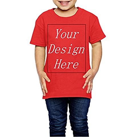 Custom Shirt Add Your Own Text Name Picture on Your Personalized kid T-Shirt red 4 Toddler - Personalized Free Toddler Tee