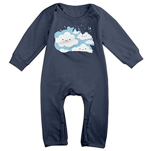 GMRLOVE Cartoon Cloud Long-Sleeve Romper Bodysuit For 6-24 Months Boys & Girls 18 Months Navy