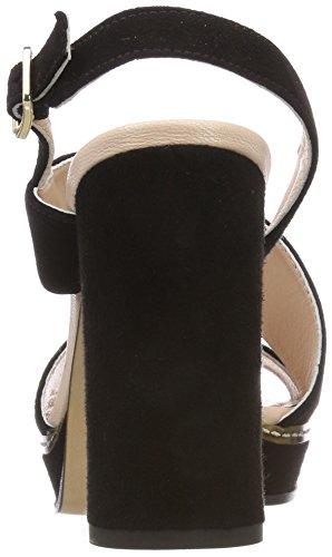 Sandalias 04 SG 900 L18 Mujer Cain Tobillo con Marc de Black JB Correa Negro para wxFq4UES